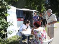 Мобильный центр здоровья на фестивале «О, да! Еда! Поляна»